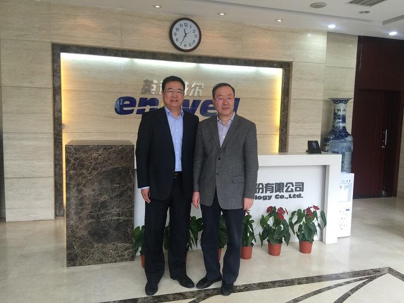 陈峰一行走访北京英诺威尔科技股份有限公司